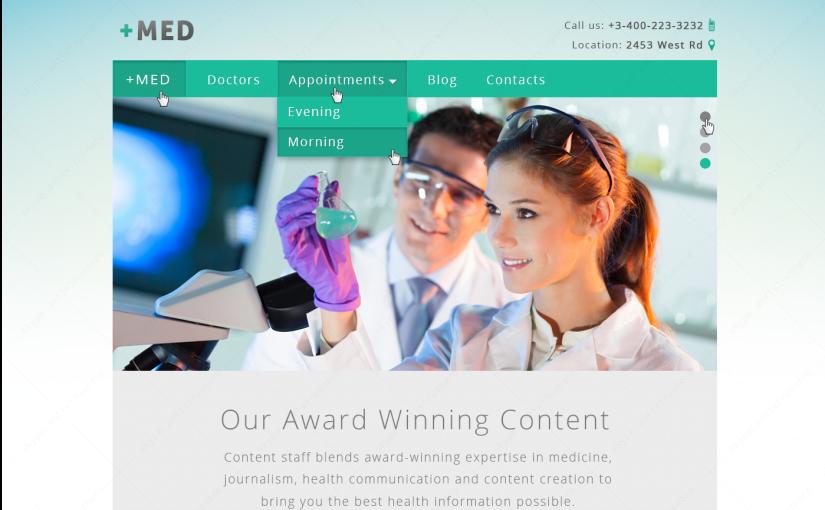 Медицинский сайт — MED+