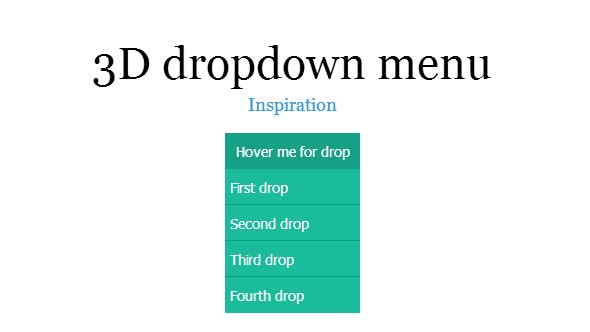 3d dropdown