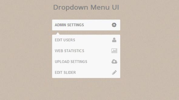 UI выпадающее меню
