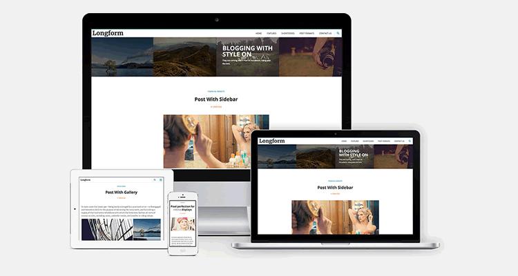 Longform бесплатная тема WordPress