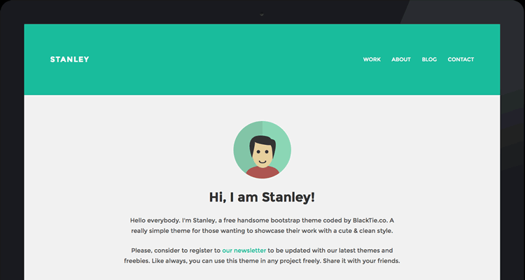 StanleyWP flat тема для WordPress