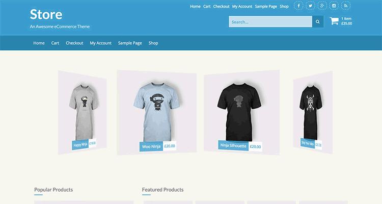 Store WordPress тема WooCommerce