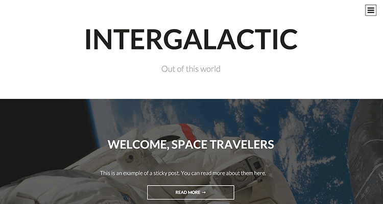 Intergalactic тема для WordPress