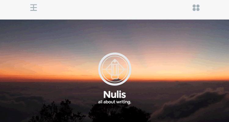 Nulis wordpress тема для блогеров