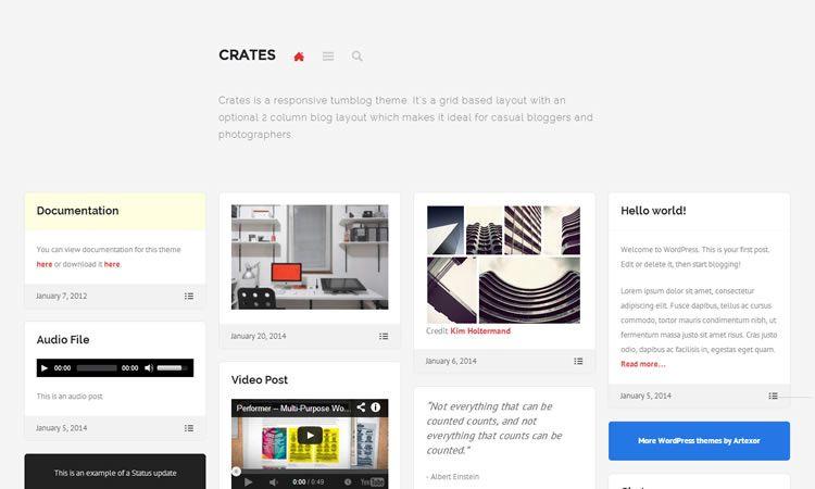Crates шаблон для wordpress