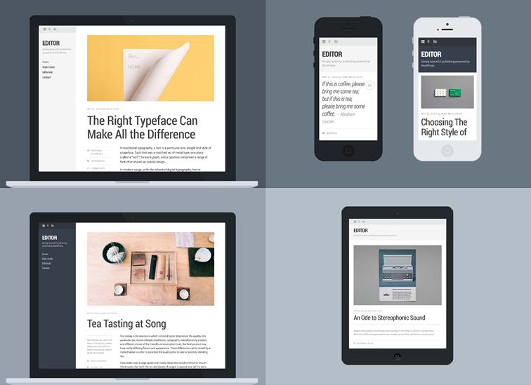 Editor - wordpress шаблон для блогеров