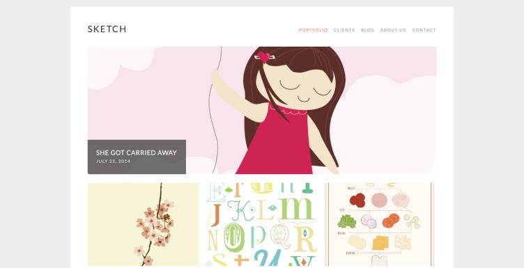 Sketch минималистическая тема для WordPress