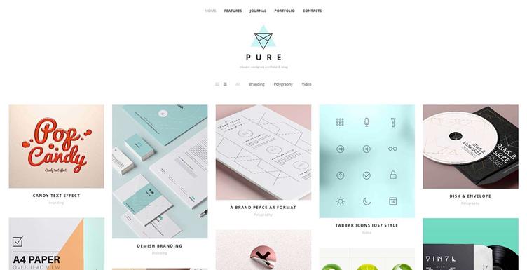 Pure шаблон для WordPress