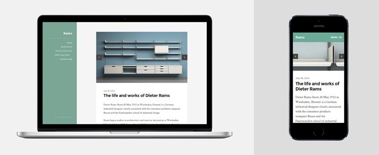 Rams тема для WordPress