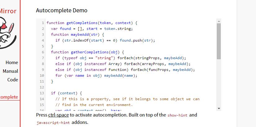 CodeMirror: Редактор кода на JavaScript