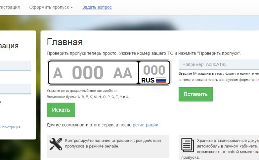 Проект по пропускам — S-Vizor.ru