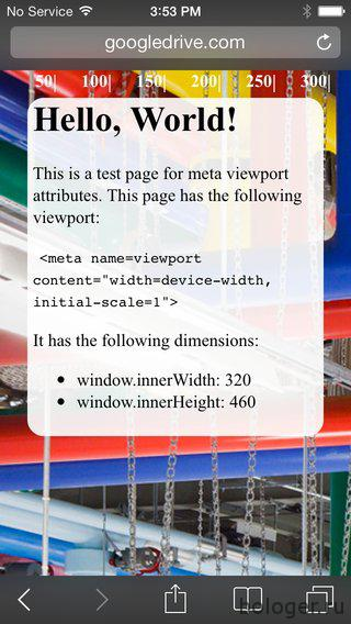iphone css viewport