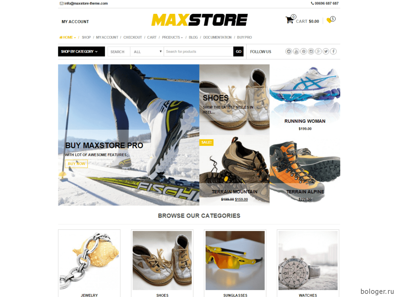 WooCommerce MaxStore