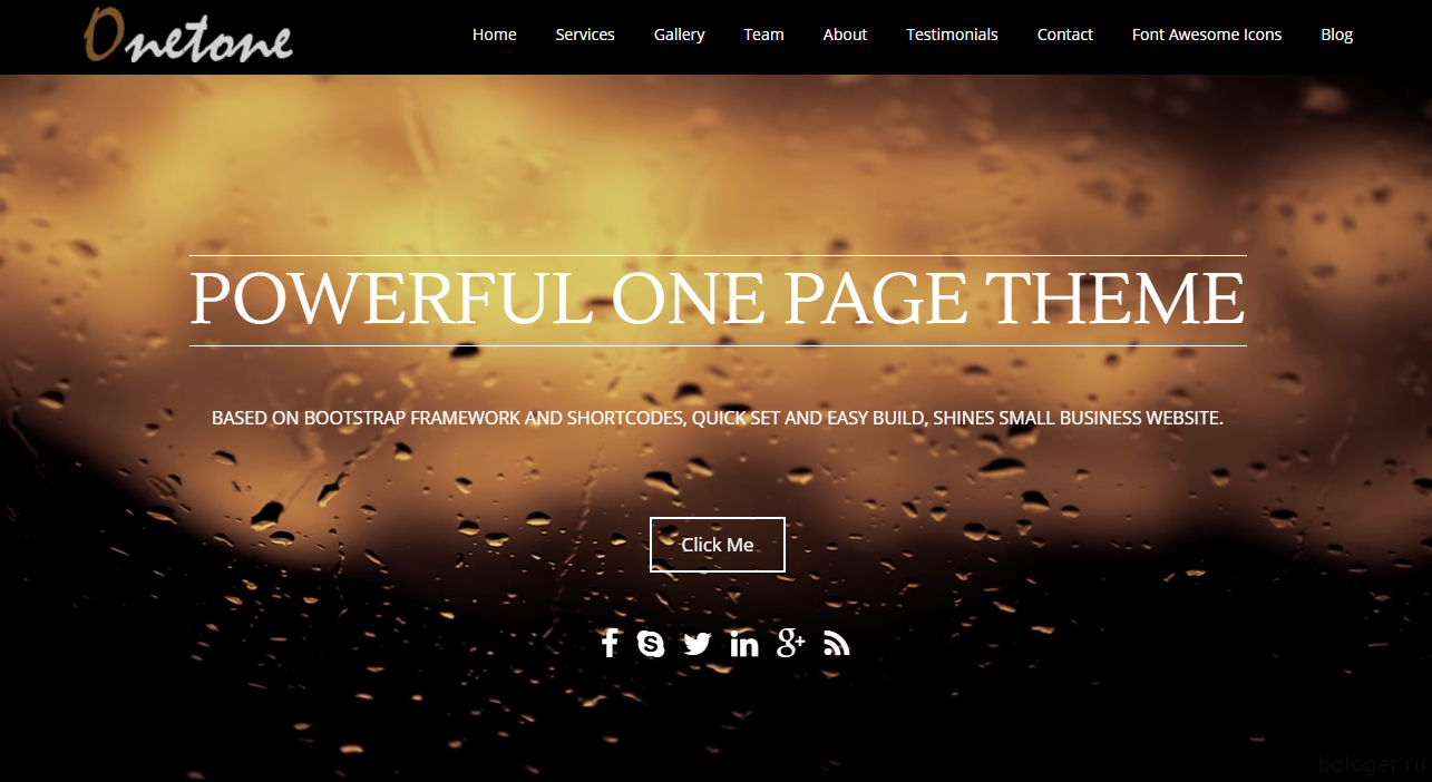 Onetone WordPress
