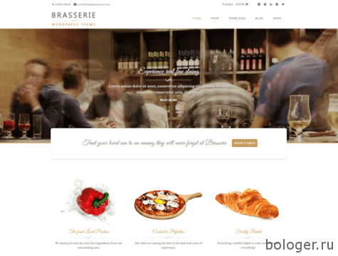 Brasserie WordPress