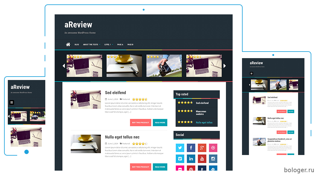 WordPress aReview тема