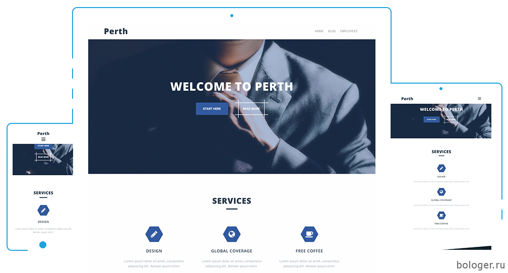 Perth WordPress тема