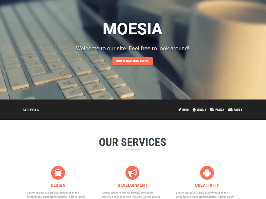 Moesia тема wordpress