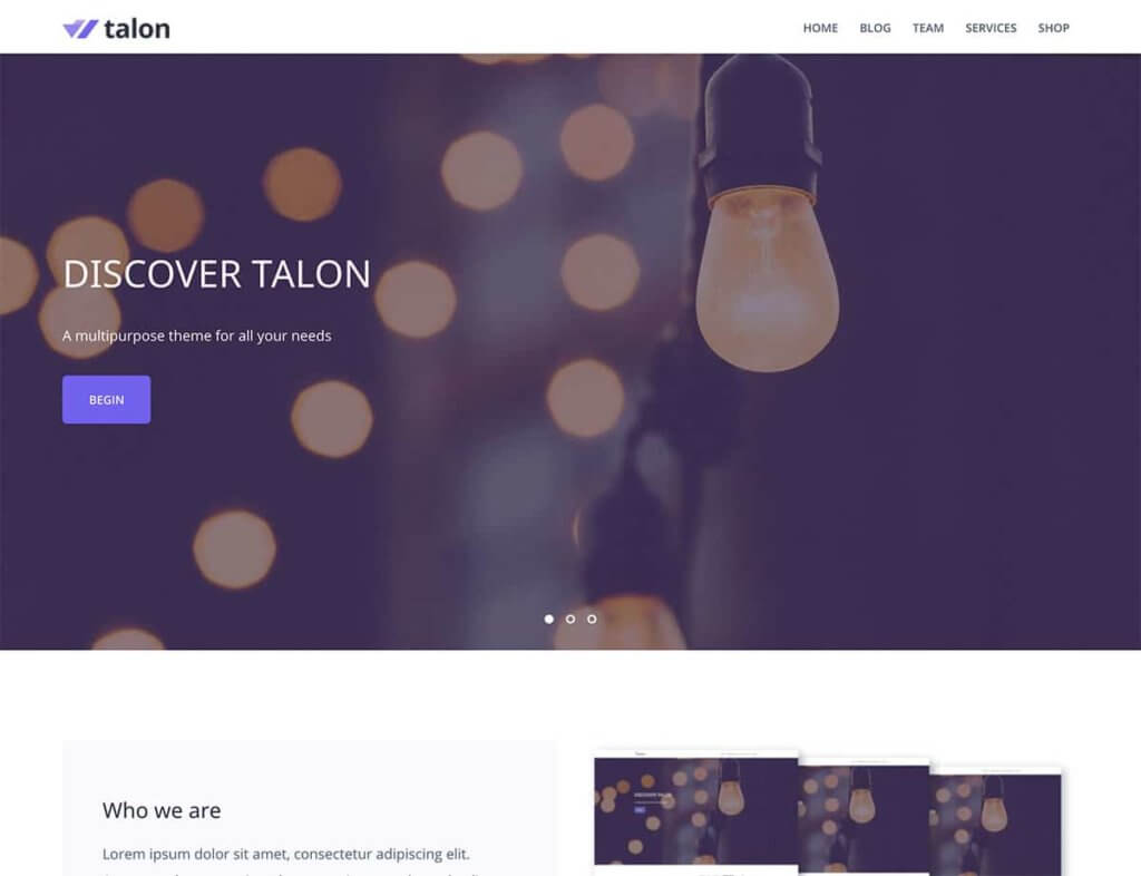 Talon WordPress