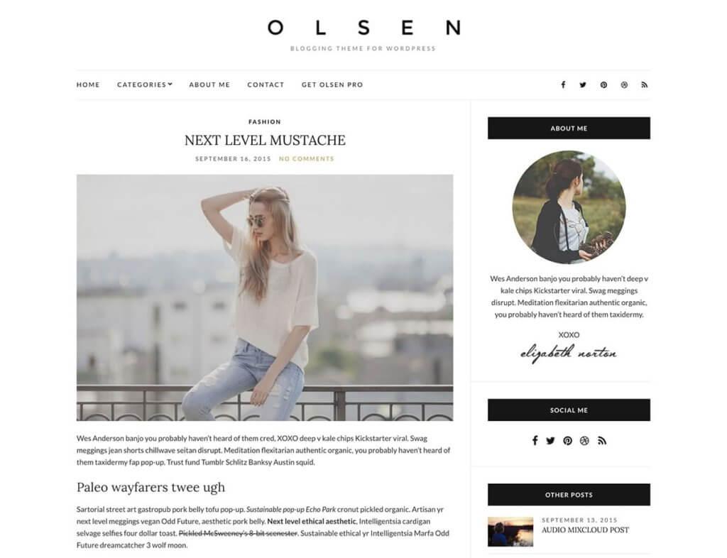 WordPress тема Olsen Light