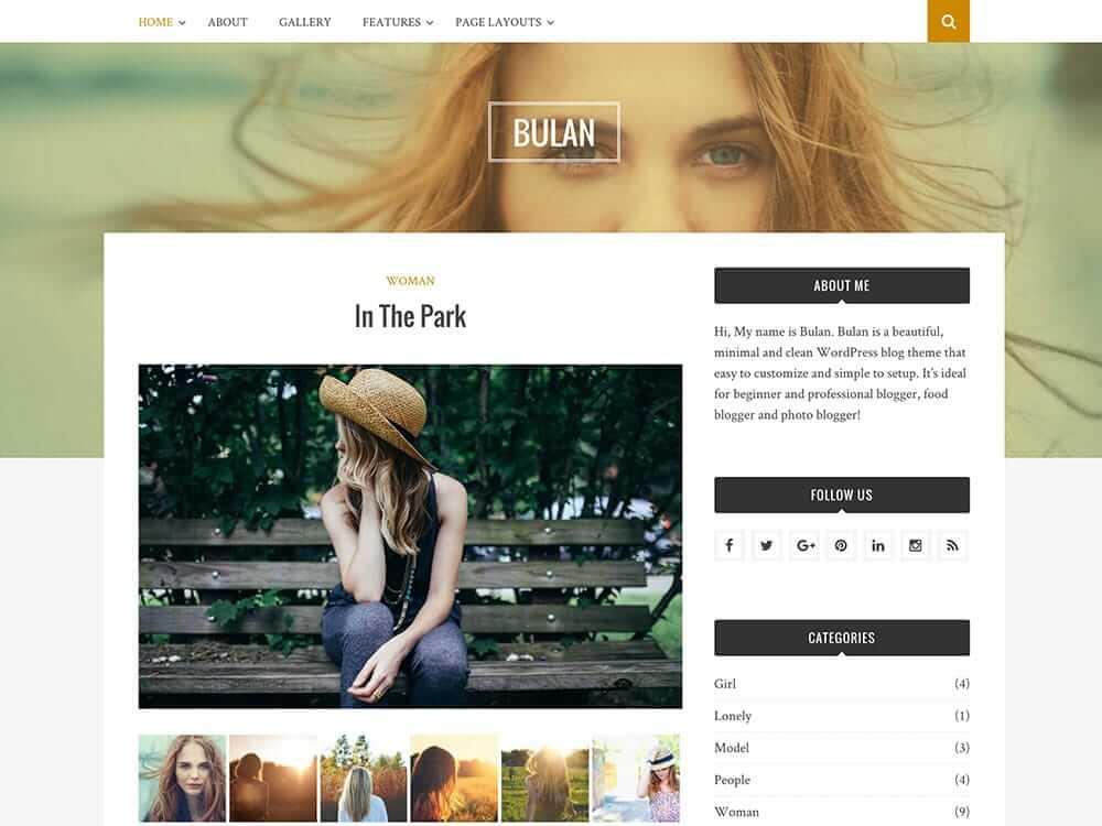 Bulan WordPress шаблон