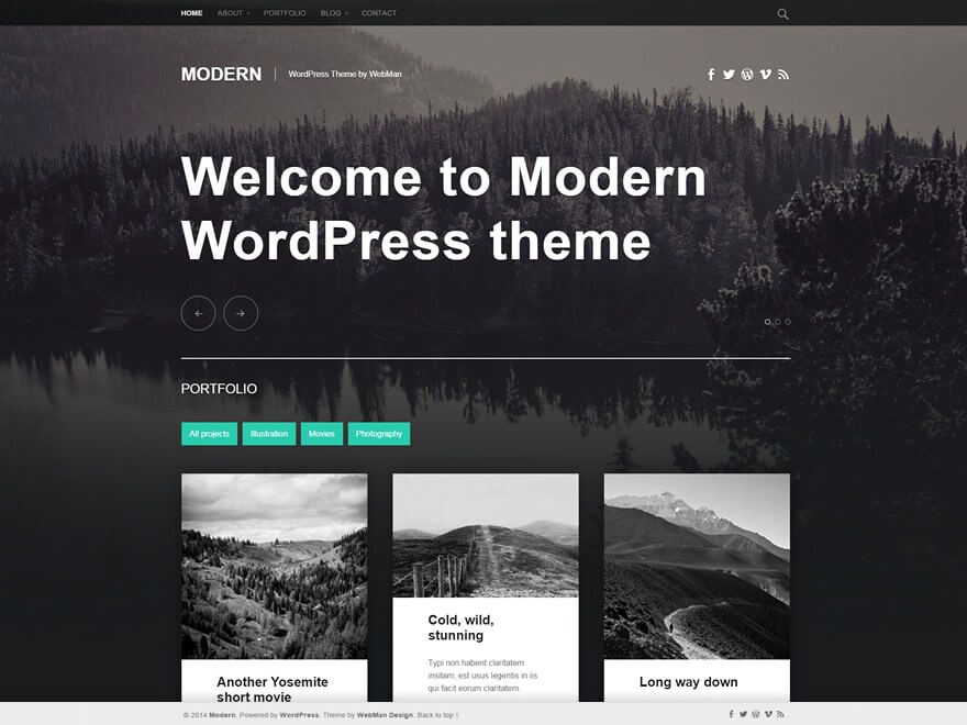 Vega WordPress шаблон