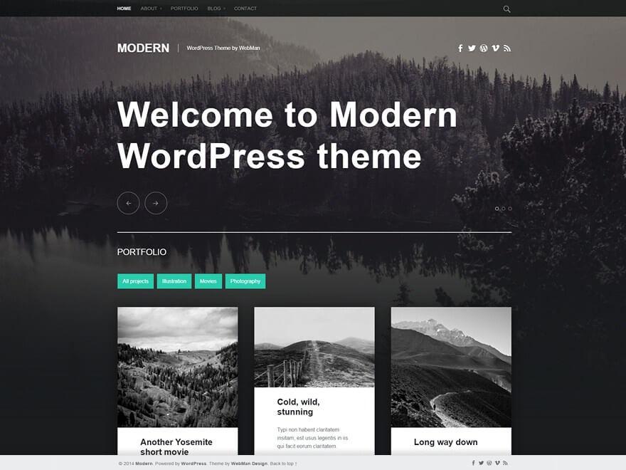 Vega WordPress шаблон