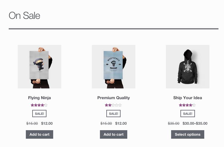 WooCommerce вывод товаров с распродажи