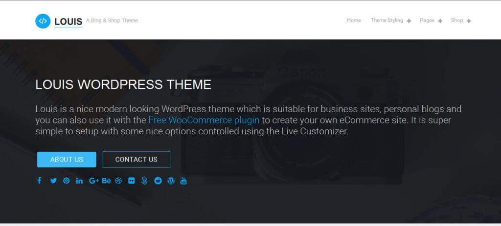 Louis тема WordPress
