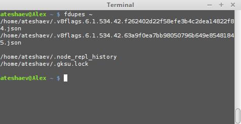 linux mint пример использования fdupes